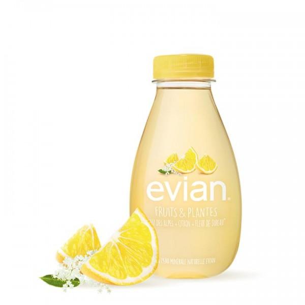 Evian FRUITS & PLANTES LEMON + ELDERFLOWER FLAVOUR Kiste 24 x 370 ml Frankreich