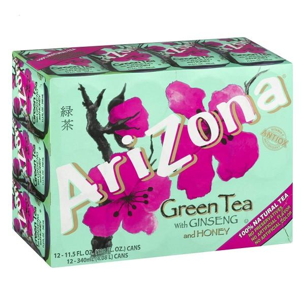 Arizona Green Tea with Ginseng and Honey Kiste 30 x 340 ml USA