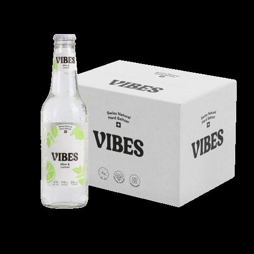 VIBES Hard Seltzer Mint & Lemon Kiste 24 x 330 ml / 4 % Schweiz