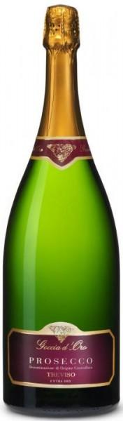Goccia d'Oro Prosecco Spumante D.O.C Trevisio Extra dry Magnum Flasche 1.5 Liter / 11 % Italien