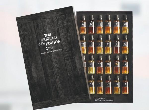 Whisky - Adventskalender 2019 (9 th Edition) 24 Fläschchen mit 25 cl / 46.6 % ausgewählten Whiskys