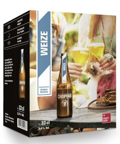 CHOPFAB WEIZE Belgium Blanche Kiste 24 x 330 ml / 5 % Schweiz