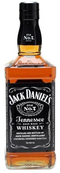 Jack Daniels old No. 7 Tennessee Whisky 70 cl / 40 % USA