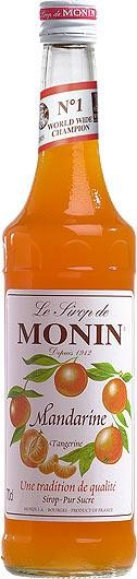 MONIN Premium Mandarine / Tangerine Sirup 70 cl Frankreich