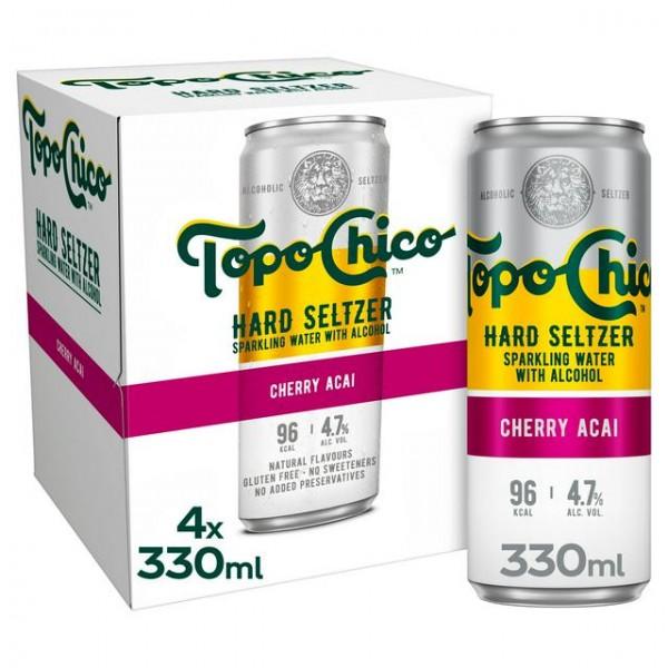 Topo Chico Hard Seltzer CHERRY ACAI Kiste 24 x 330 ml / 4.7 % USA