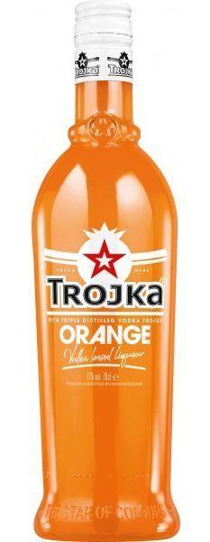 TROJKA ORANGE Vodka Likör 70 cl / 17 % Schweiz