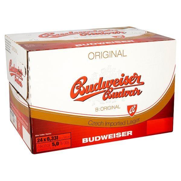 Budweiser Budvar Kiste 24 x 330 ml / 5 % Tschechien