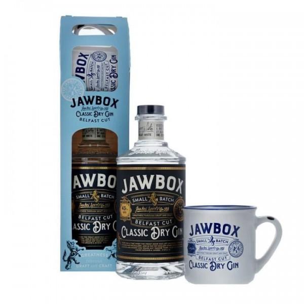 JAWBOX Classic Dry Gin Belfast Cut SET mit MUG Tasse 70 cl / 40 % Irland