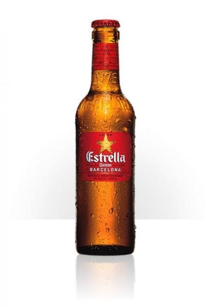 Estrella Damm Bier Glas 330 ml / 4.6 % Spanien