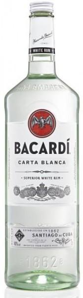BACARDI Carta Blanca Rum 3 Liter Doppelmagnum / 37.5 % Puerto Rico