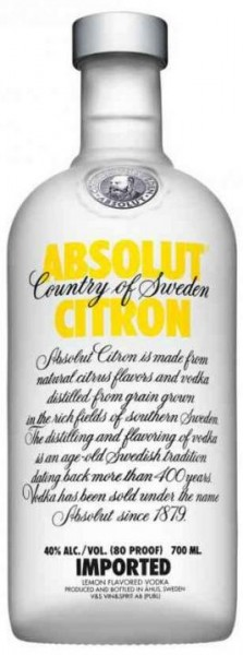 Absolut Vodka CITRON 70 cl / 40 % Schweden