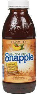 Snapple all Natural PEACH Tea PET 24 x 591 ml USA