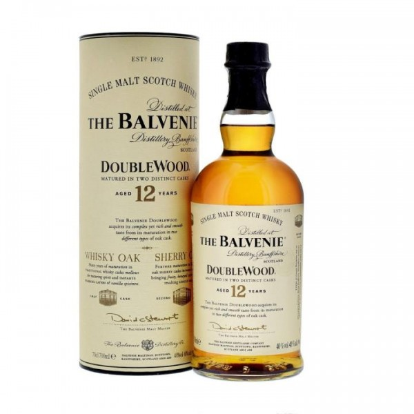 The BALVENIE 12 Years Double Wood Highland Single Malt Whisk 70 cl / 40 % Schottland