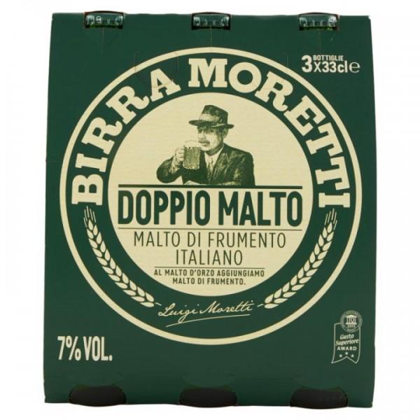 Birra MORETTI Doppio Malto Kiste 24 x 330 ml / 7 % Italien