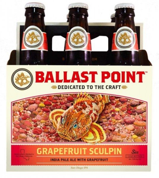 Ballast Point SCULPIN PINEAPPLE IPA Kiste 24 x 355 ml / 7 % USA