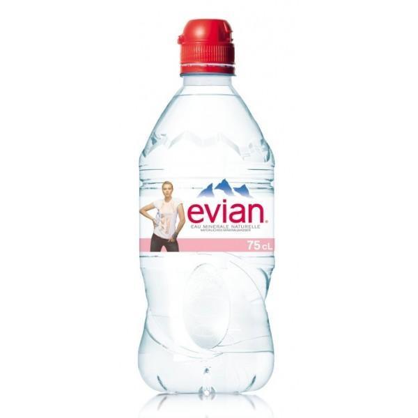 Evian SPORT mit Sportverschluss 24 x 750 ml Frankreich