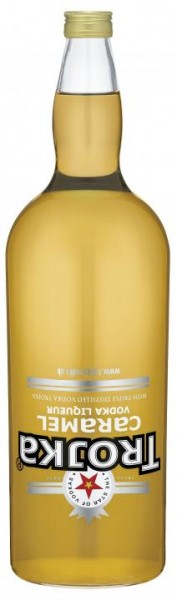 TROJKA CARAMEL Vodka Likör Gallone 4.55 Liter / 24 % Schweiz