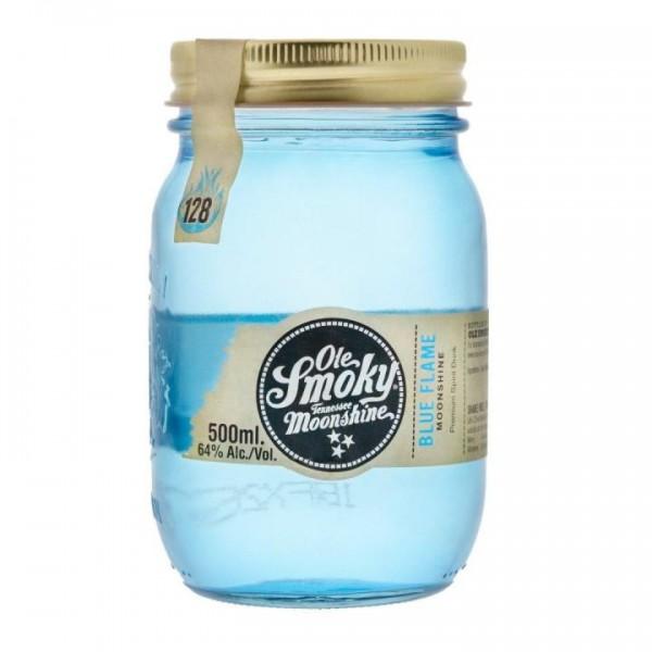 Ole SMOKY Tennessee MOONSHINE Blue Flame Whisky MINIATURE 5 cl / 64 % USA