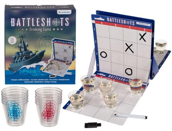 Trinkspiel BATTLESHOTS -Schiffe versenken mit 10 Becher 19 x 19 cm by out of the blue