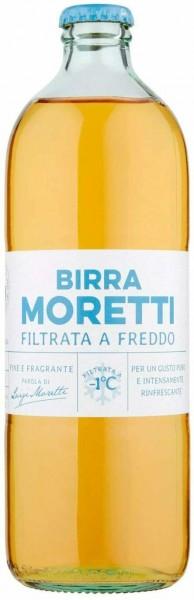 Birra MORETTI FILTRATA A FREDDO Bier 550 ml / 4.3 % Italien