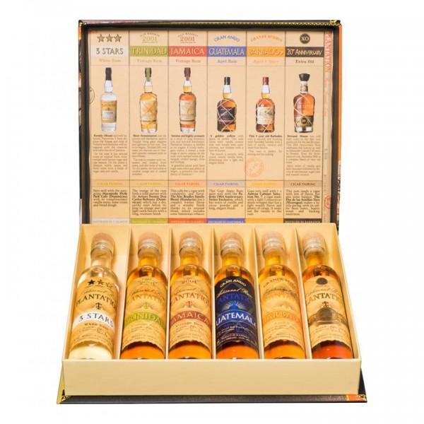 Plantation Rum Grand Crus CIGAR BOX 6 x 10 cl / 41.2 % Karibik
