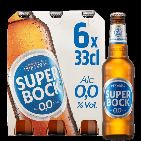 SUPER BOCK 0.0 ALKOHOLFREIES Bier Kiste 24 x 330 ml Portugal
