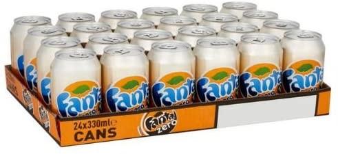 Fanta Orange ZERO Kiste 24 x 330 ml UK