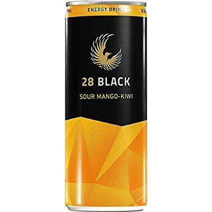 Schwarze Dose 28 Black SOUR MANGO - KIWI Energy Drink 250 ml Deutschland