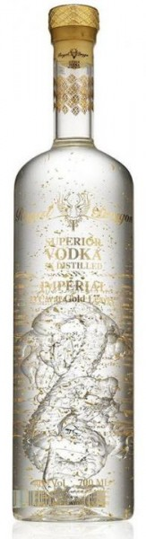 ROYAL DRAGON Superior Vodka Imperial mit 23 Karat Blattgold 70 cl / 40 % Russland