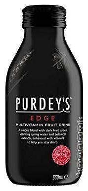 PURDEY'S EDGE Multivitamin Fruit Drink 330 ml Glas UK