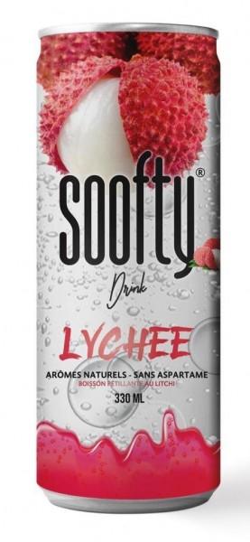 soofty Drink LYCHEE in PET Dose 330 ml Frankreich