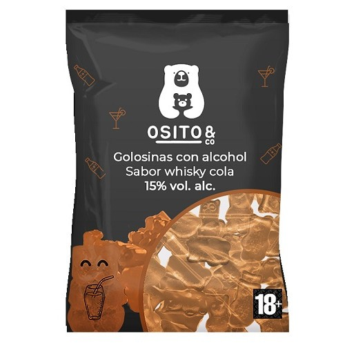 OSITO & Co Gummibären mit Alkohol WHISKY COKE 120 Gramm / 15 % Spanien