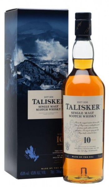 Talisker 10 Years Islay Single Malt Scotch Whisky 70 cl / 45 % Schottland