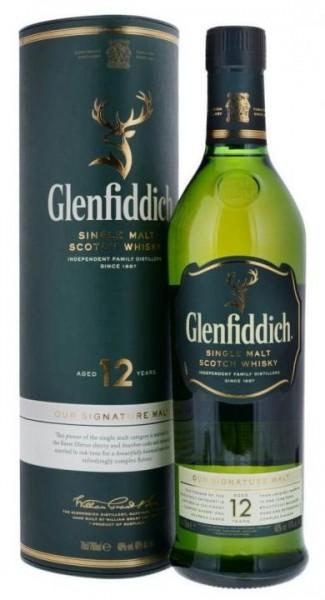 Glenfiddich 12 Single Malt Scotch Whisky 70 cl / 40 % Schottland