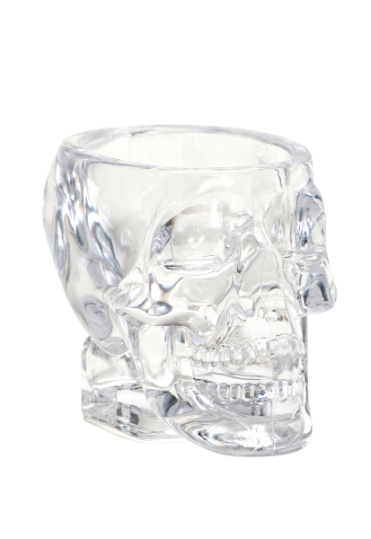 Crystal Head Shotglas aus PLASTIK neue Grösse nur 2.5 cl Inhalt