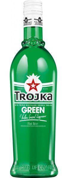 TROJKA GREEN Vodka Likör 70 cl / 17 % Schweiz
