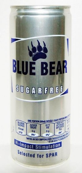 BLUE BEAR Sugarfree Energy Drink 24 x 250 ml UK