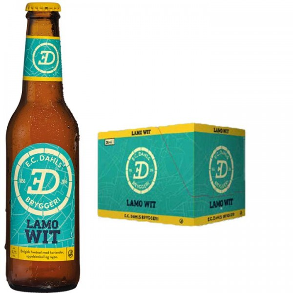 EC Dahls LAMO WIT Beer Case 24 x 330 ml / 5.2 % Norwegen