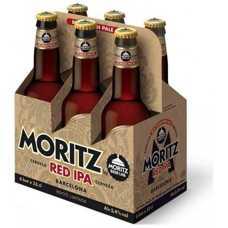 Moritz RED IPA Bier Kiste 24 x 330 ml / 5.4 % Spanien