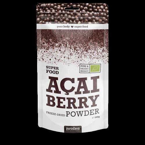 Purasana Superfood ACAI Berry Powder BIO 100 Gramm Brasilien