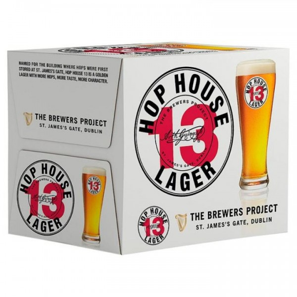 Guinness HOP HOUSE 13 Lager Case 24 x 330 ml / 5 % Irland