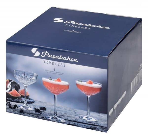 Pasabache Timeless COUPE Glas - Champagnerschale 255 ml Set of 4