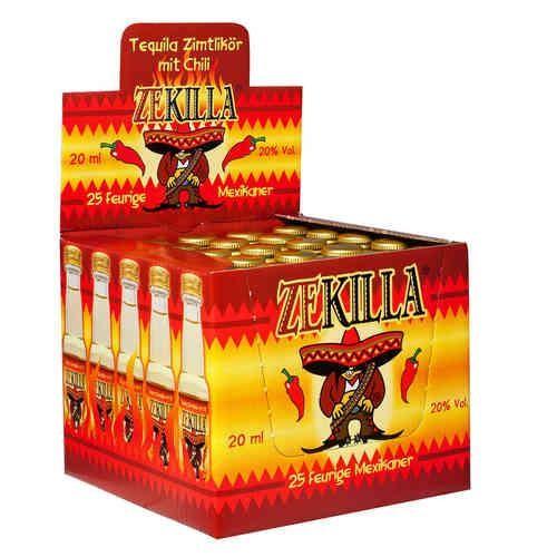 ZEKILLA Shot Likör mit Tequila, Zimt, Chilli Box 25 x 2 cl / 20 % Deutschland