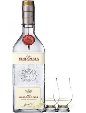 SCHLANDERER HIMBEERGEIST Set with 2 glasses 70 cl / 42% Germany