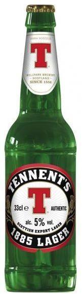 TENNENT'S 1885 Lager 24 x 330 ml / 5 % Schottland