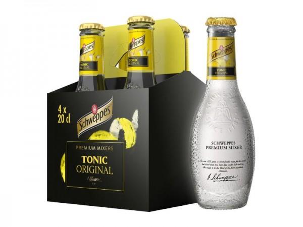 Schweppes Premium Mixer TONIC Original Kiste 24 x 200 ml Belgien