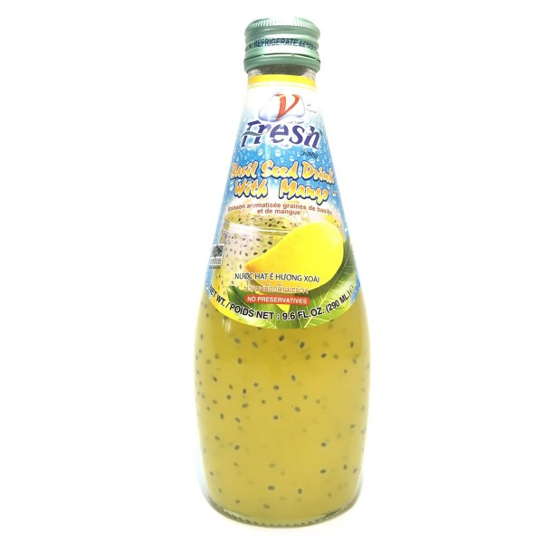 V-fresh PINEAPPLE Drink with BASIL SEED 290 ml Thailand