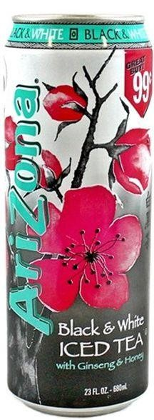 Arizona Black & White Iced Tea 680 ml USA
