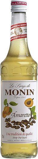 MONIN Premium Amaretto Sirup 70 cl Frankreich