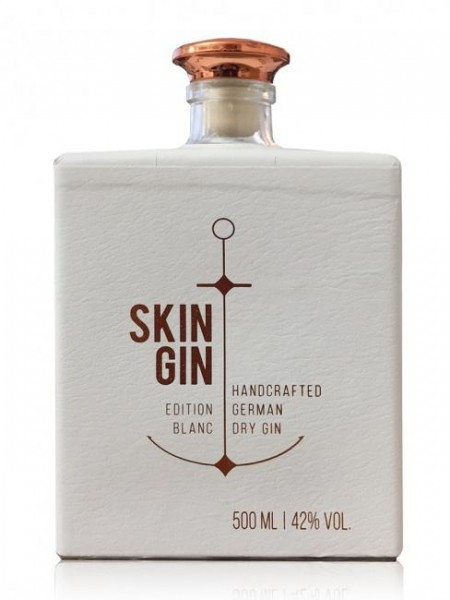 SKIN GIN Edition BLANC Handcrafted German Dry Gin 50 cl / 42% Deutschland